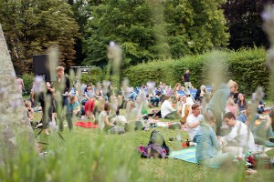 Sommerkino im Garten des Kunstvereins. Foto: Aline Köhler