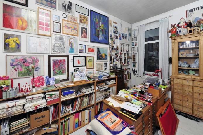 Einblick in die Wohnung einer Kunstsammlerin. Foto: Andreas Greiner-Napp
