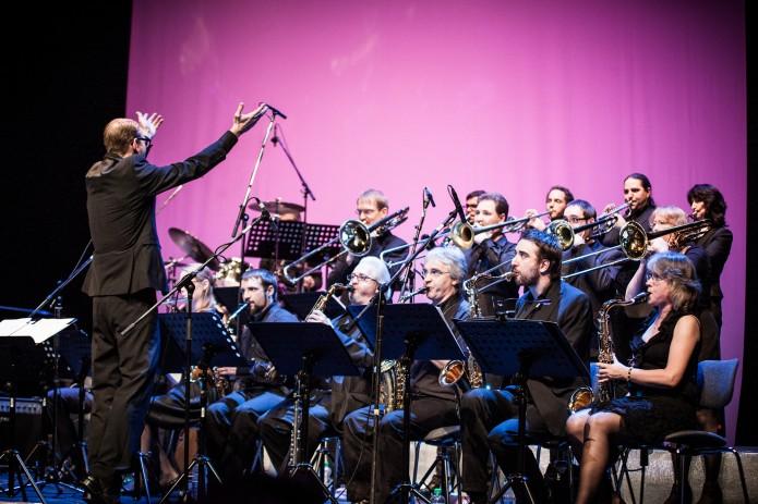 Die Bigband der Musikschule unter Leitung von Karle Bardowicks spielt bei der Eröffnung der Kulturnacht auf. Foto: Stadt Braunschweig