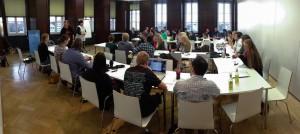 In den einzelnen Sessions werden verschiedene Themen vorgetragen. Foto: Alexander Hahn