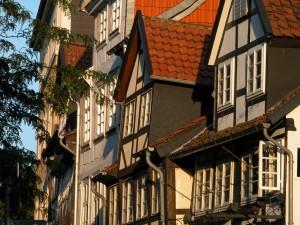 Fachwerkhäuser am Burgplatz. Foto: BSM / Aginmar