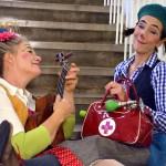 Die beiden Clowns sind sehr musikalisch...