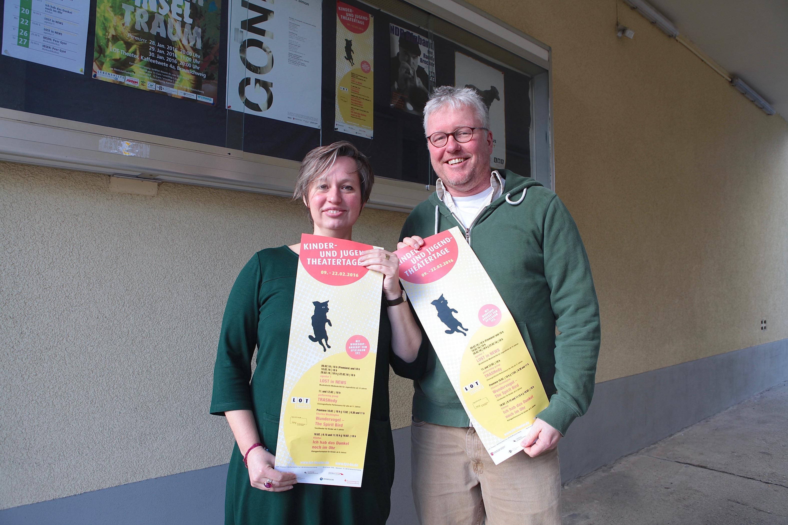 Stefanie Theis und Martin von Hoyningen Huene sind während eines Festivals in Göttingen auf die Idee zu den Kinder- und Jugendtheaterwochen gekommen. Foto: André Pause