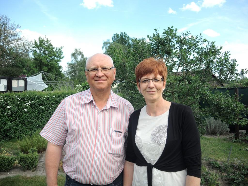 Andreas und Sabine Schnur besitzen schon seit mehr als 17 Jahren einen eigenen Garten in der Kolonie. Foto: BSM