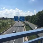 Der letzte Abschnitt führt über die Autobahn. Foto: BSM