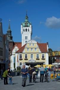 Der Rathausplatz in Verden. Fotoarchiv der Stadt Verden, Fotograf: Frank Pusch