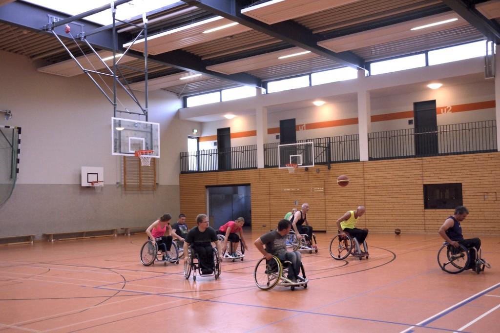 Training, Rollstuhlbasketball, Angriff, MTV Braunschweig