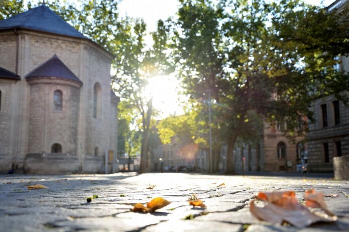 Braunschweiger Dom im Herbst.