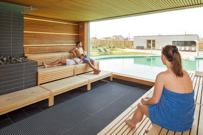 In der Saunalandschaft der Wasserwelt kann ich richtig entspannen. Foto: Stadtbad GmbH/Verena Meier