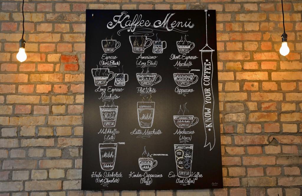 Das Kaffee-Menü im Kapai-Kaffeehaus wurde nach neuseeländischem Vorbild gestaltet. Foto: BSM