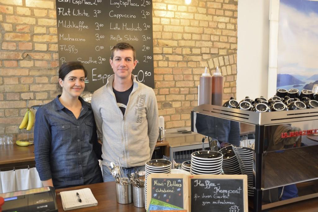 Katharina und Brad haben ihre Kaffee-Liebe zum Beruf gemacht und das Kapai-Kaffeehaus eröffnet. Foto: BSM