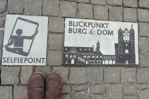 Vom Selfie-Point aus kann man den Burgplatz auf einem Bild gut einfangen. Foto: BSM