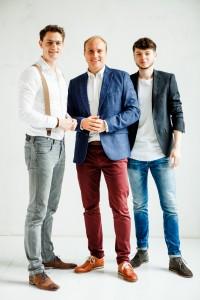 Die Gründer der etileo GmbH: Matthias Habel, Fabian Obermann und Tobias Fischer.