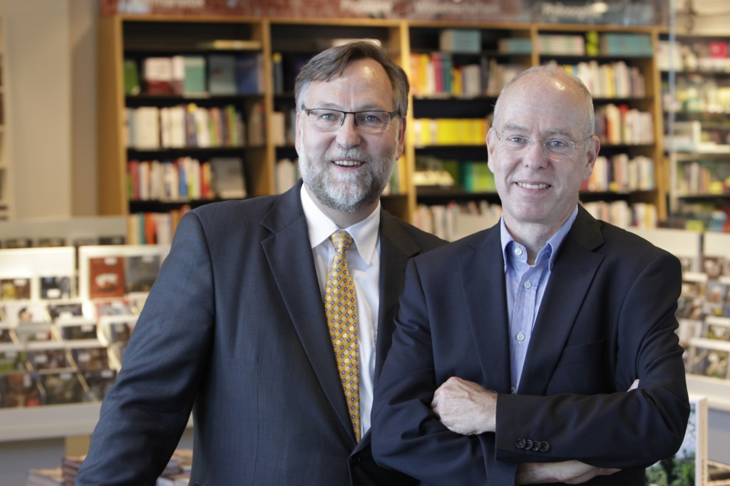 Joachim und Thomas Wrensch sind die dritte Generation der Familie Wrensch in der Geschäftsführung der Buchhandlung Graff. Foto: Buchhandlung Graff