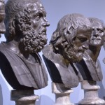 Majestätisch thronen die Büsten der alten Griechen in der Skulpturen-Galerie. Foto: BSM