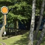Schilder und andere Details lassen Eisenbahn-Feeling aufkommen. Foto: BSM