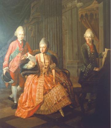 Dieses Gemälde zeigt die Herzogin Anna Amalia mit ihren beiden Söhnen. Foto: Wikimedia Commons