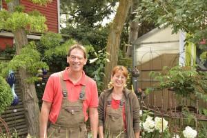 Frank Kappelmann und Jane Schäfer wissen, worauf es bei der Gartengestaltung ankommt. Foto: BSM