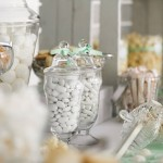 Ton in Ton fügt sich die Candybar in das Farbmotto der Hochzeit ein. Foto: Zana Photos