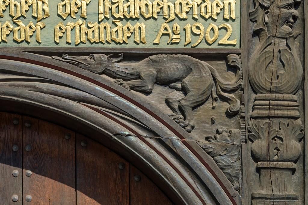 Schnitzerei am Huneborstelschen Haus