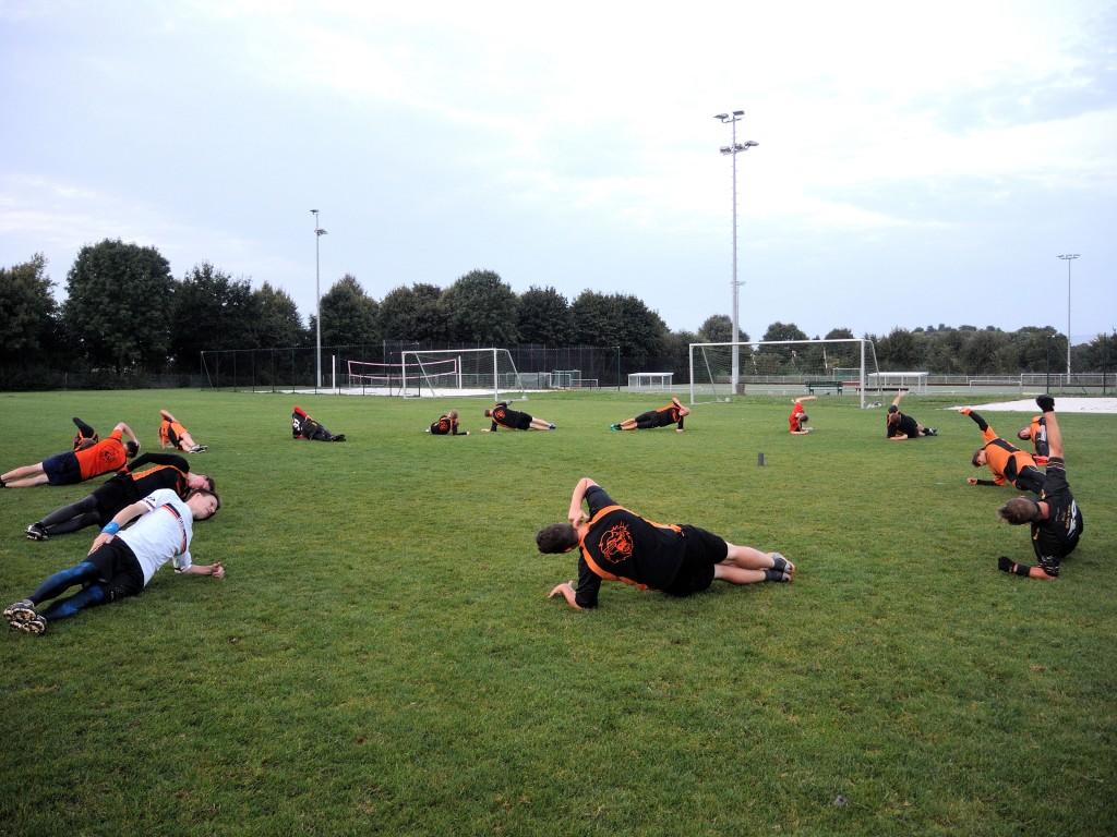 Beim Aufwärmen werden alle Muskelgruppen trainiert. Foto: BSM