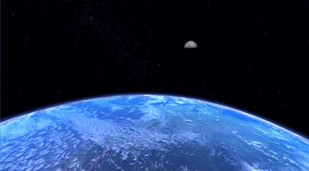 So sah mein Blick von der ISS aus. Screenshot: VIrtuaLounge.