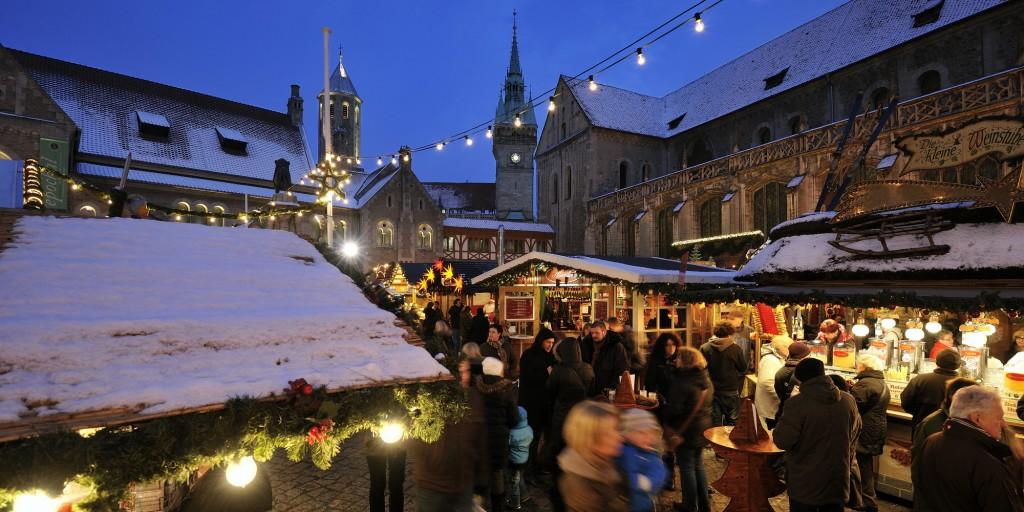 Auf dem Braunschweiger Weihnachtsmarkt funkelt es nachhaltig. Foto: BSM