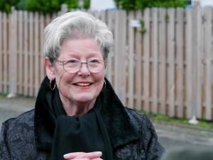 Frau Fischer, die Spenderin des Baums. Foto: BSM