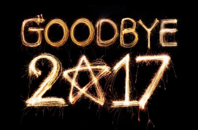 Wir sagen Auf Wiedersehen zum Jahr 2017. Foto: iStock.com/studiocobra