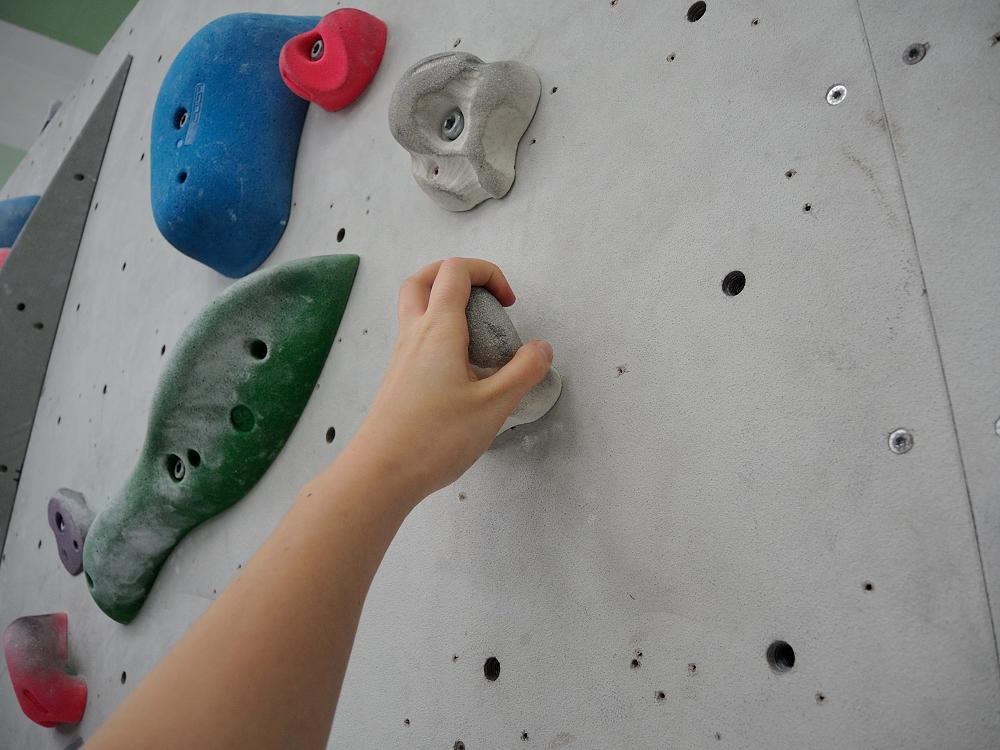 Fest im Griff: Die Arme werden beim Klettern beansprucht. Foto: BSM