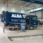 Eine Kehrmaschine von ALBA. Foto: BSM