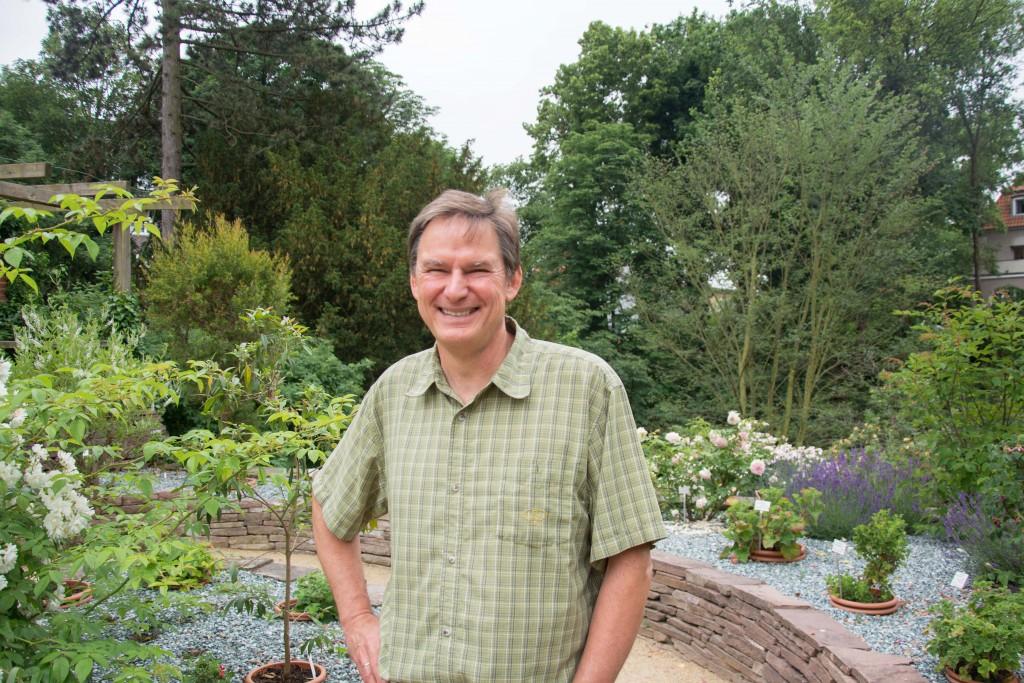 Michael Kraft in seinem Element: Im Botanischen Garten zu arbeiten war schon immer sein Traum. Foto: BSM