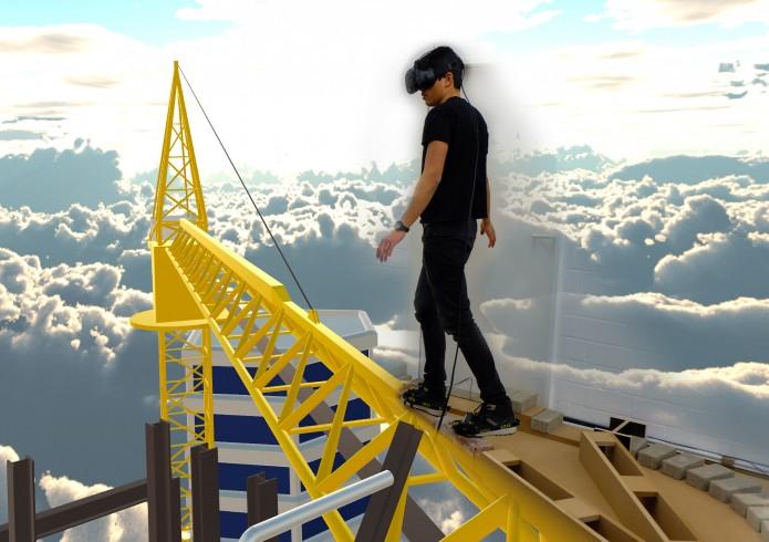 Walk atop a Skyskraper - a Virtual Reality experience. Foto: Matthias Hüttmann.