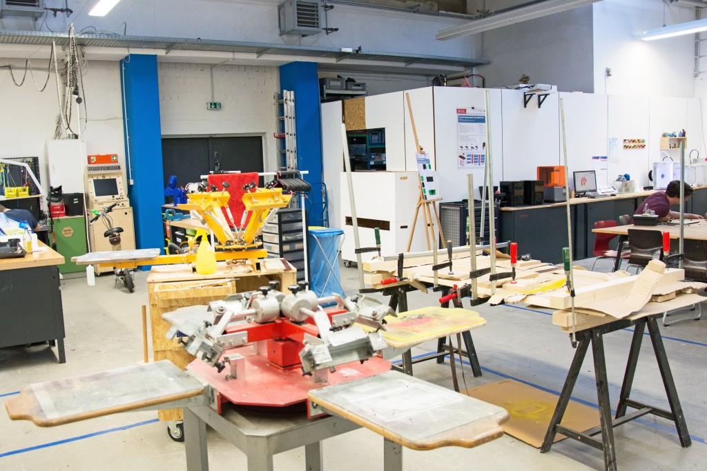 Ein Blick in den Werkbereich des Protohauses. Foto: BSM