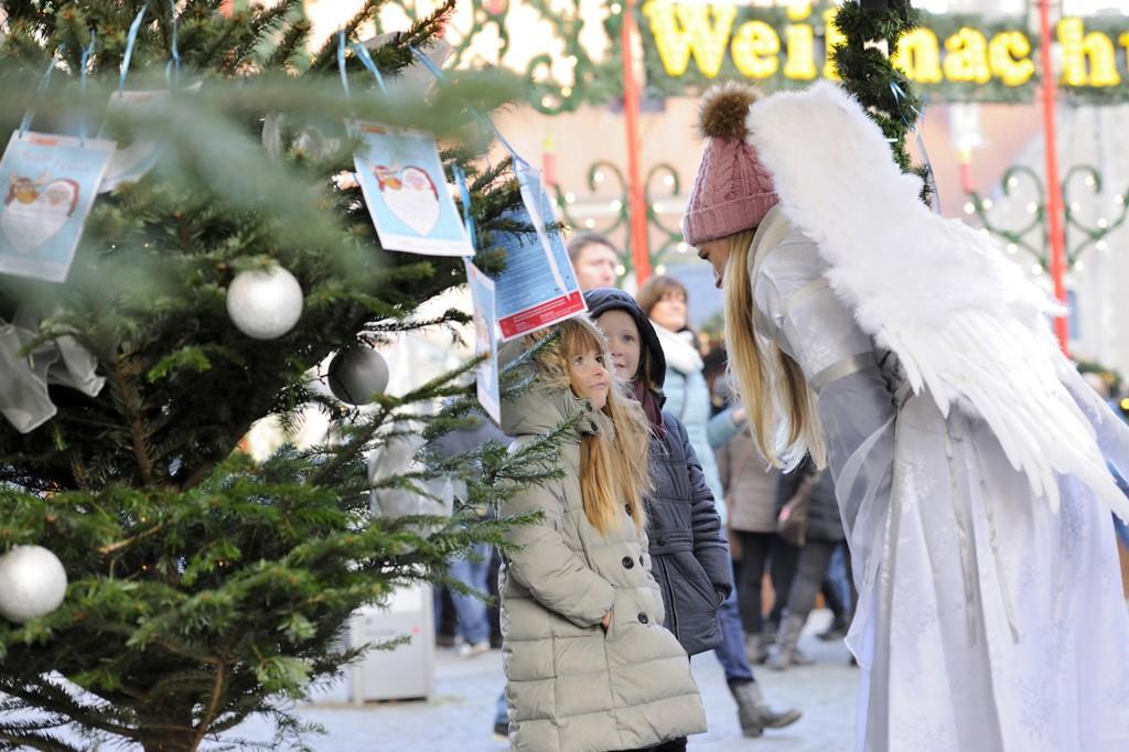 Der Wunschbaum steht am 1. Dezember wieder vor dem Braunschweigischen Landesmuseum. Foto: BSM/Daniel Möller