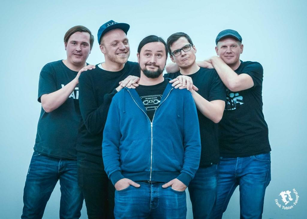 Die fünf Musiker von Boxing Fox. Foto: Frank Tobian