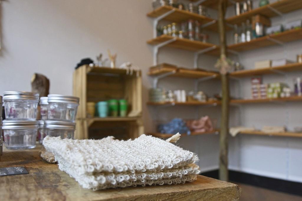 Seifensäckchen sorgend dafür, dass die Seife schön schäumt und auch die letzten Reste aufgebraucht werden. Foto: BSM