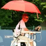 Die Stuhlschiedsrichter müssen trotz Hitze einen kühlen Kopf und vor allem den Überblick bewahren. Foto: BSM