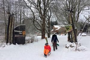 Das Naturerlebniszentrum Hohnehof informiert über den Nationalpark Harz.