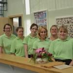 Das Team im Café Flora mit seiner Teamleiterin Janet Steffens-Grüning (2. v. re.). Foto: BSM