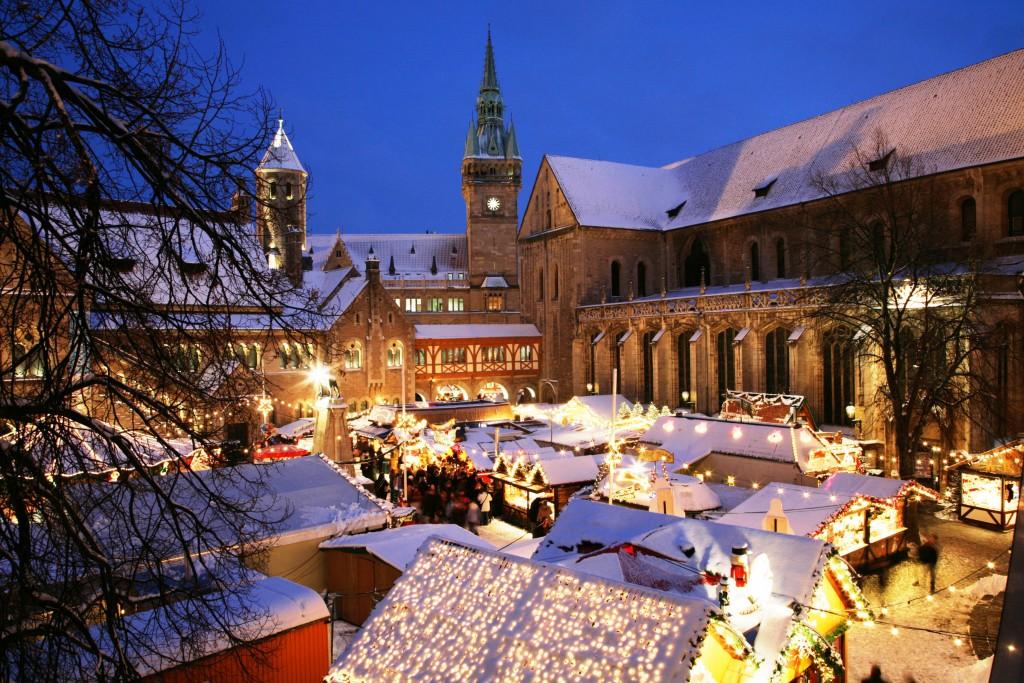 Blick auf den Braunschweiger Weihnachtsmarkt.