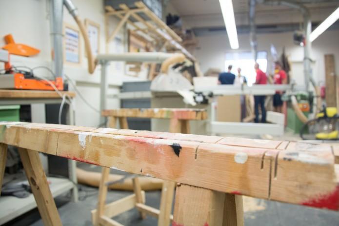Die Holzwerkstatt im Protohaus. Foto: BSM