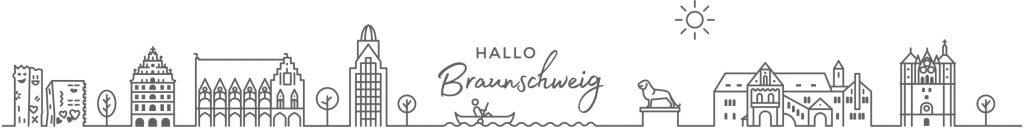 Skyline von Braunschweig, die auf dem RECUP-Becher zu finden ist.