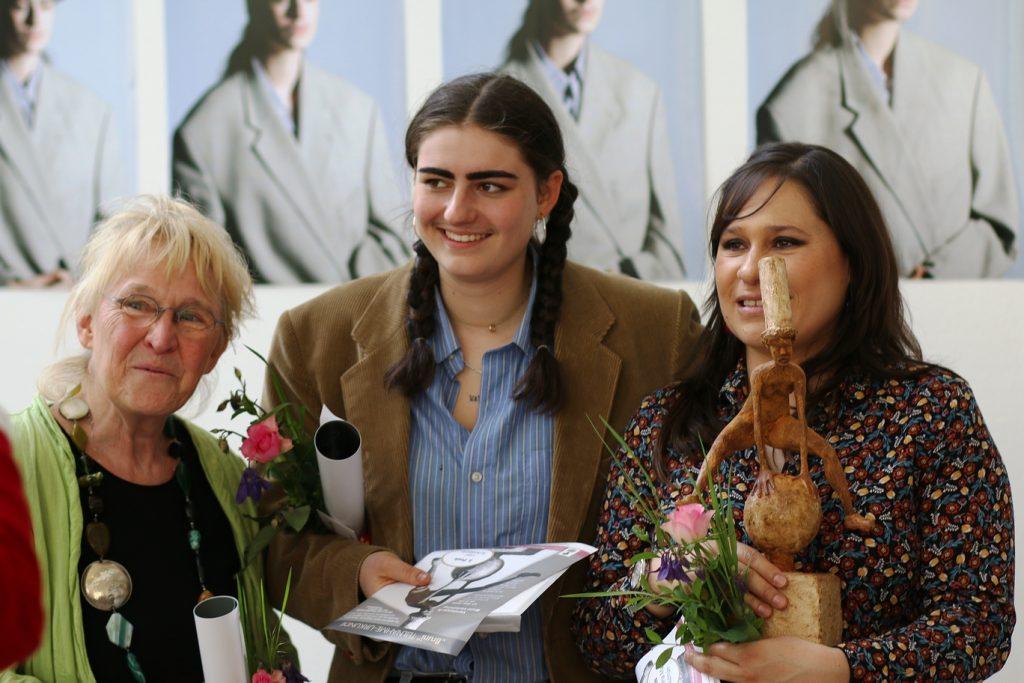 Preisträgerinnen des Bruni-Frauenförderpreises, v. l.: Elke Almut Dieter, Lexi Schnäbele, Helena Luz Guzmán