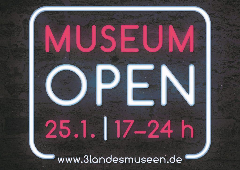 Ausstellungsplakat MUSEUM OPEN 25.1., 17-24 Uhr