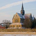 Kloster Kirche Riddagshausen an einem Wintermorgen.