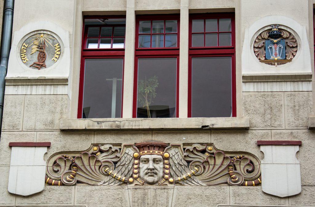 Fassade des Langerfeldt-Hauses am Papenstieg