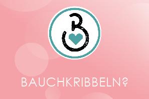 Logo Babybauch auf rosa Hintergrund