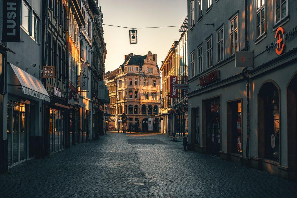 Innenstadt Braunschweig mit Blick auf Kattreppeln.
