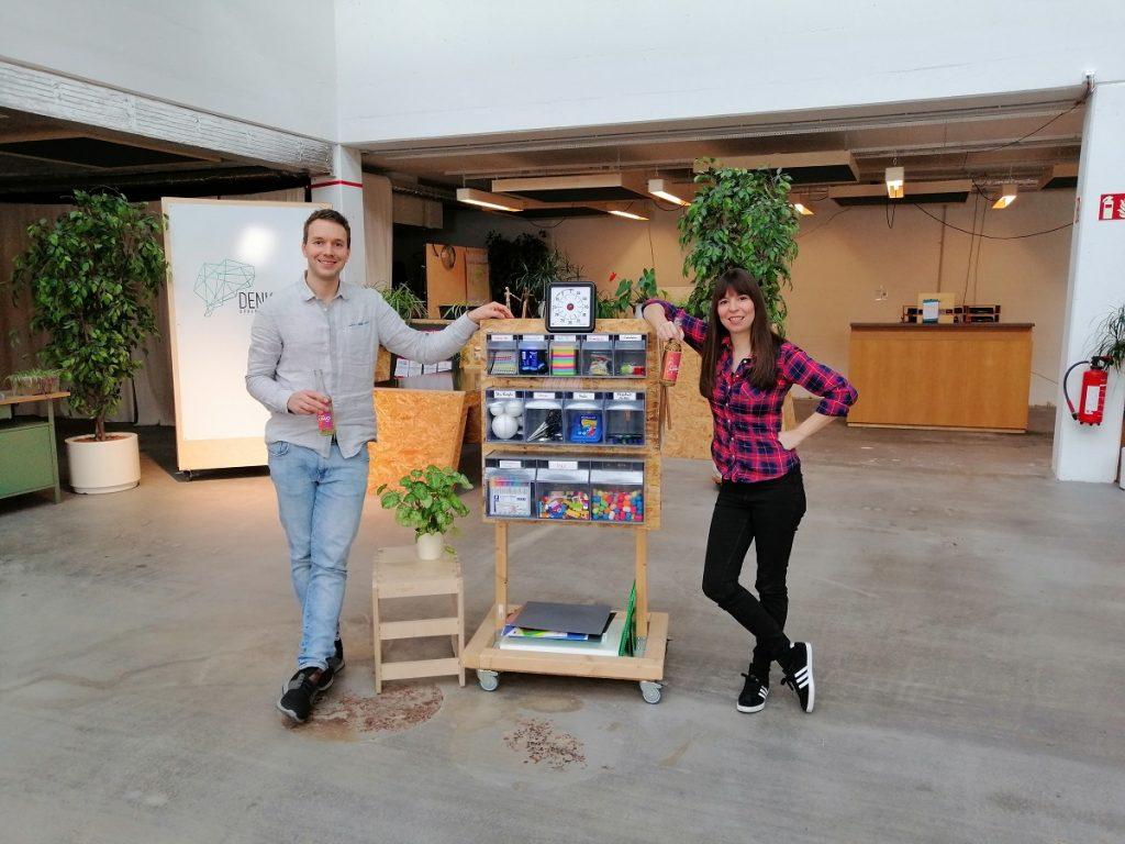Cedric Lachmann und Jennifer Haacke sprechen im Denkraum Braunschweig über kreative Arbeitsweisen